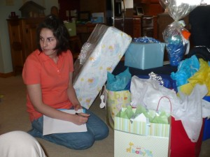 Look at all these gifts! I am glad Ang was recording everything for me!