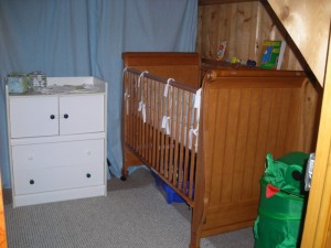 All the nursery furniture in place
